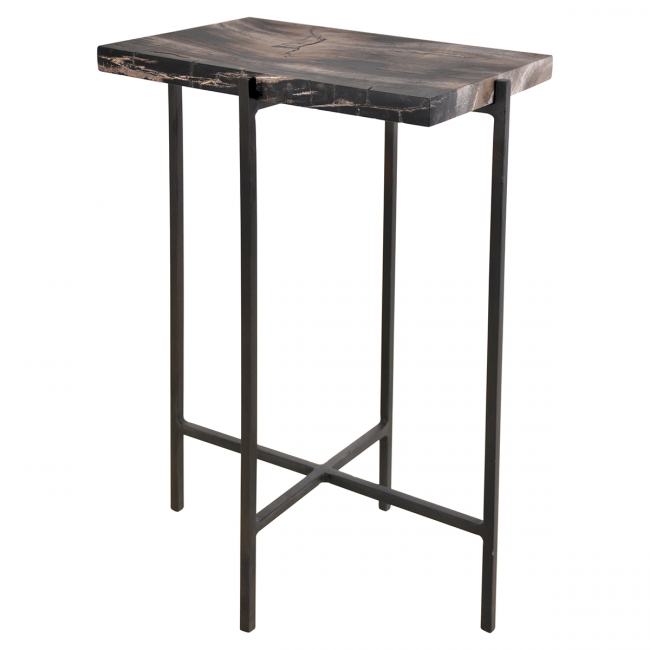Merced Rectangle Side Table Olystudio Com - Small Black Metal Rectangle Side Table