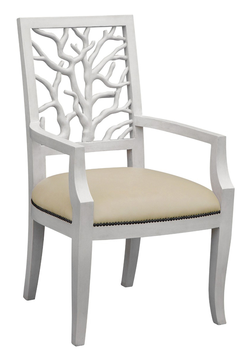 coral armchair