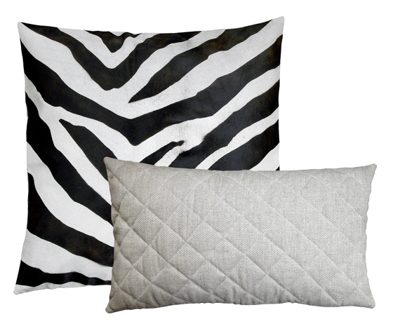 faux zebra pillow